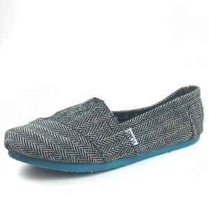 Toms Rainbow Weave Aztec Classic Slip On Shoes